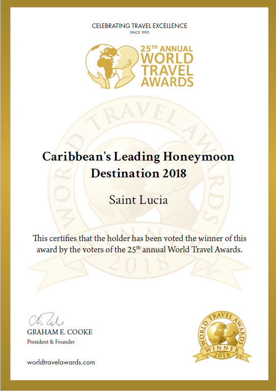 Saint Lucia Crowned Caribbean's Leading Honeymoon Destination